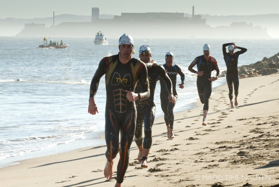 Andy Potts out of the water in his Tyr Freak of Nature.